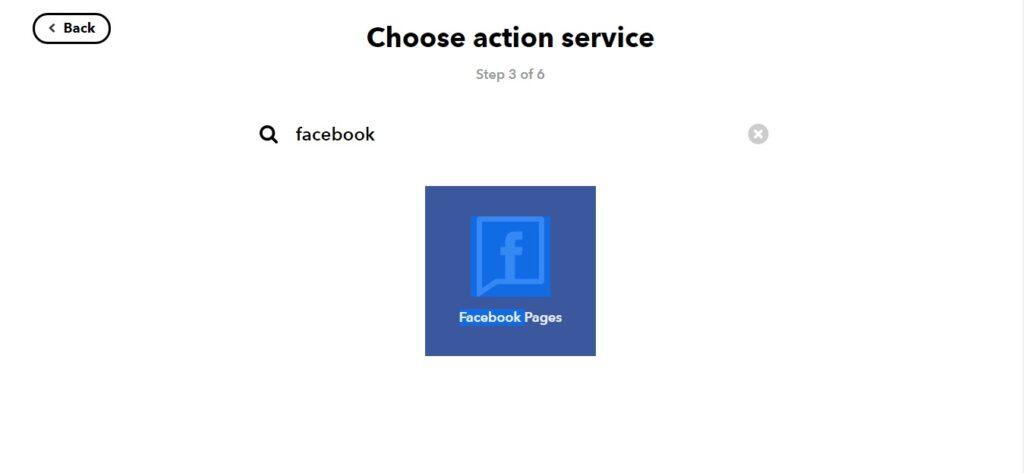 kết nối ifttt đến fanpage facebook