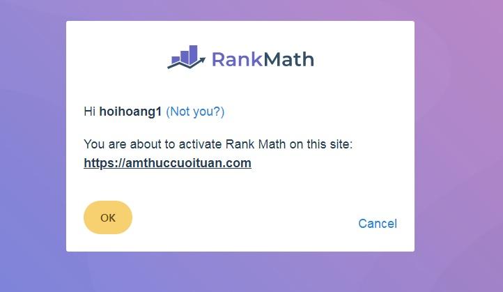 kết nối tài khoản google với plugin rank math cho trang web