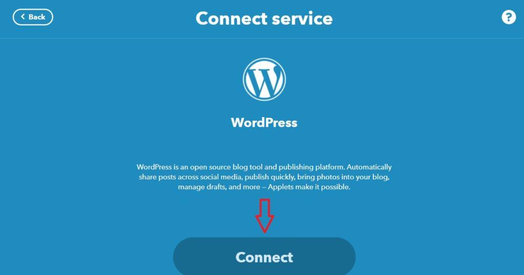 kết nối wordpress với ifttt